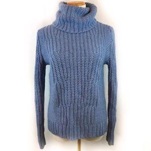 Banana Republic Blue Italian Turtleneck Sweater